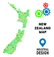 gears new zealand map mosaic vector image