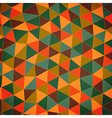 Geometric pattern Texture with trianglesMosaic vector image vector image