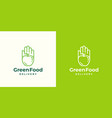 Green food delivery abstract sign symbol