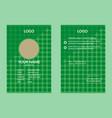 green id card 15 vector image vector image