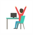 Guy Sleepy Stretching At Work Coworking In vector image vector image