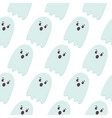 halloween seamless pattern flying ghosts cute vector image vector image