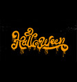 happy halloween party calligraphy logo scary vector image