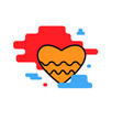 heart icon wave trendy modern vector image vector image