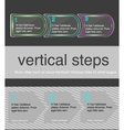 horizontal steps vector image vector image