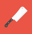 kitchen cleaver vector image vector image