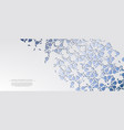 modern arabesque floral cold pattern arabic vector image