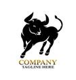 modern bull logo vector image vector image