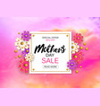 mothers day sale background layout with beautiful vector image vector image