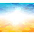 Nature summer view background vector image vector image