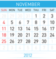 November calendar vector | Price: 1 Credit (USD $1)