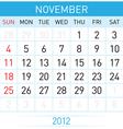 november calendar vector image vector image