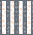 orange and grey hand drawn citrus fruit and vector image vector image