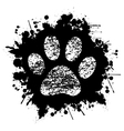 Paw Print-Ink-Background vector image vector image