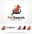 pet search logo template design vector image