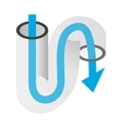 Pipe of sink isometric 3d icon vector image