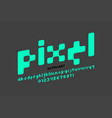 pixel style font alphabet letters and numbers vector image vector image