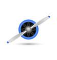 plane blade propeller airplane wood engine vector image vector image