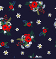 seamless floral pattern with cute small ditsy vector image vector image