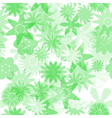 seamless green water colours simple floral pattern vector image vector image