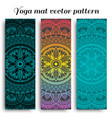 set of ethnic designs for yoga mats vector image vector image