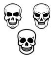 set of skull icons isolated on white background vector image