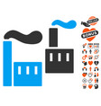 smoking industry icon with love bonus vector image