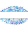 snowflakes design for winter with place text space vector image vector image