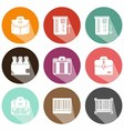 Solid icons shadow market vector image vector image