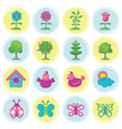 Spring Season Object Icons Set Hand Draw Style vector image vector image