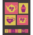 teatime card vector image vector image