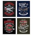vintage world war 2 fighter plane graphic t-shirt vector image vector image