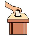 voting concept design vector image