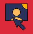 web design elements picture mouse arrow icon vector image vector image
