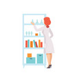 young woman working in laboratory female vector image
