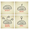 Brain logo set vector image