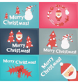 Merry Christmas Greeting Poster Set vector image