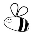 comic bee insect flying animal line vector image