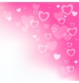 dream hearts pink background vector image
