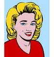 Blond pop art woman vector image
