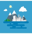 City Against Mountains vector image