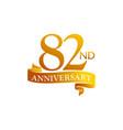 82 year ribbon anniversary vector image vector image