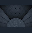 abstract 3d background with black paper layers vector image vector image