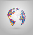 abstract globe earth colorful vector image vector image