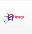 abstract ink splash logo concept template for vector image