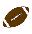 american football ball equipment line and fill vector image