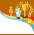 awards and trophy vector image