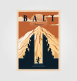 bali province indonesian vintage poster culture vector image vector image