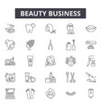 beauty business line icons signs set vector image