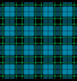 blue and green tartan seamless pattern vector image vector image